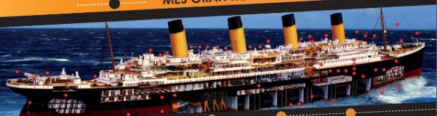 The giant model of the Titanic will be presented in Tarragona in 2016